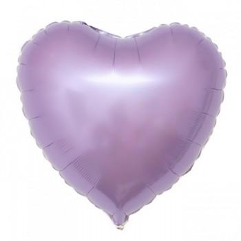 Фольгированное сердце сиреневое
