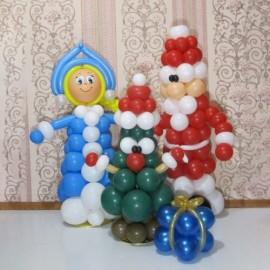 Снегурка + Дед Мороз + ёлочка + подарок