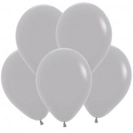 Гелиевый шар серый