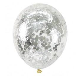 "Гелиевый шар с конфети ""серебро"""