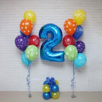 2 фонтана+цифра на подарке