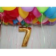 Цифра + 20 шаров с гелием