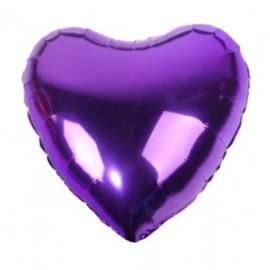 Фольгированное сердце фиолетовое