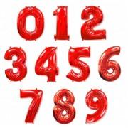 Фольгированная цифра красная