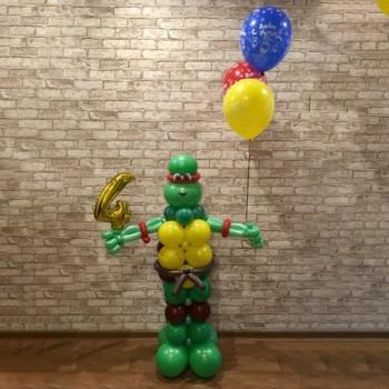 Черепашка-Ниндзя с шариками и цифрой