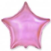 Фольгированная звезда розовая