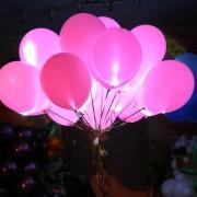 """Светодиодный гелиевый шар """"розовый"""""""