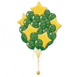Связка 15 комуфляжных шаров + 5 звезд