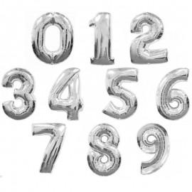 Фольгированная цифра серебро