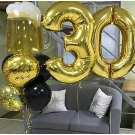 2 цифры + фонтан с кружкой пива