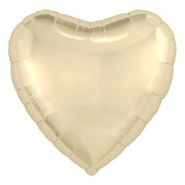 Фольгированное сердце шампань