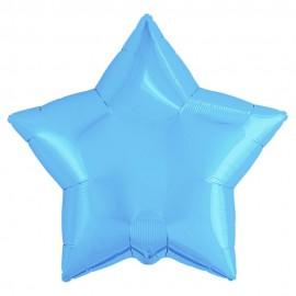 Фольгированная звезда голубая