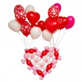 Летающее сердце + 20 шаров