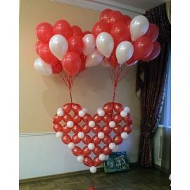 Сердце для запуска + 30 шаров