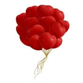 Связка 50 шаров сердечек