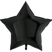 Фольгированная звезда чёрная