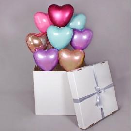 Коробка + 9 сердец внутри