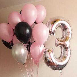15 шаров + цифра 3