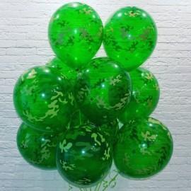 Связка 10 камуфляжных шаров