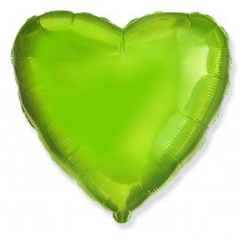 Фольгированное сердце лайм