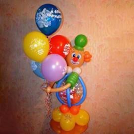Клоун с 5 шарами ДР