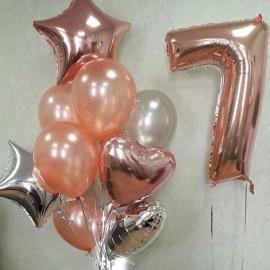 Цифра 7 + фонтан