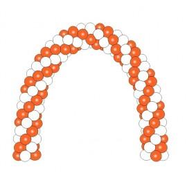 Гирлянда из шаров бело-оранжевая