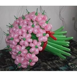 Букет 25 розовых ромашек