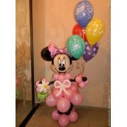 Мини Маус розовая + 5 шаров с ДР