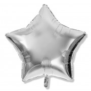 Фольгированная звезда серебрянная