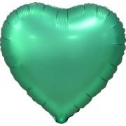 Фольгированное сердце зелёное