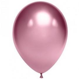 """Гелиевые шары хром """"розовые"""""""
