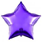 Фольгированная звезда фиолетовая