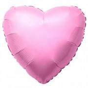Фольгированное сердце розовое