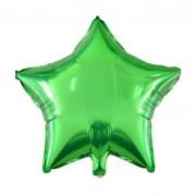 Фольгированная звезда зелёная