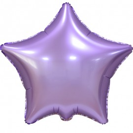 Фольгированная звезда сиреневая