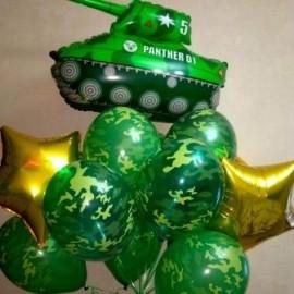 Камуфляжные шары + танк
