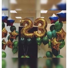 4 фонтана + цифры 23