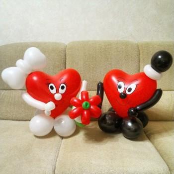 2 влюблённых сердечка