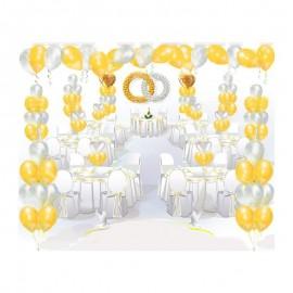"""Пакет оформления шарами """"Свадебные кольца"""""""