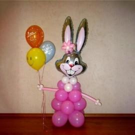 Большой заяц с 3 шарами