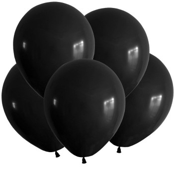 Гелиевый шар чёрный
