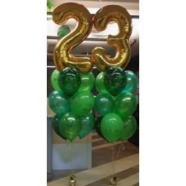 Комуфляжные фонтаны с цифрами 23