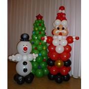 Дед Мороз + снеговик + ёлка