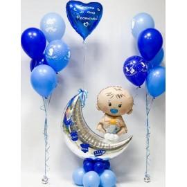 2 фонтана + малыш + сердце с надписью
