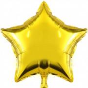 Фольгированная звезда золотая
