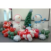 Снеговики с подарками и ёлкой