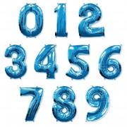 Фольгированная цифра синяя